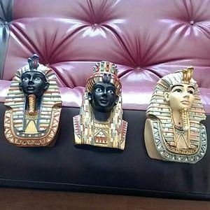 """Egyptian Pharaoh's Set of 4 Felt Covered Base 6x5"""""""